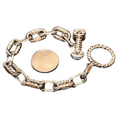 Sterling Sam Benham BJC Toggle Link Bracelet