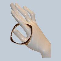 Sarah Coventry Modernist Hinged Bracelet