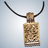 Sterling Silver Pendant with Scrollwork