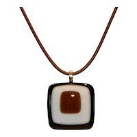Sterling & Resin Mod Pendant Necklace