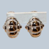 Silver Tone Clip Earrings I inch