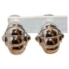 Silver Tone Clip Earrings I inch