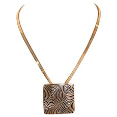 Abstract Form Pendant with Chain 18 inches