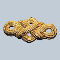 Carolee Ribbon Texture Brooch Pin