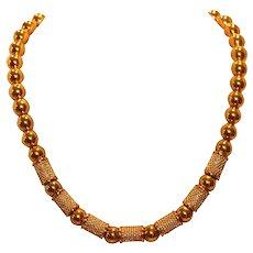 Napier Bead & Cylinder Choker Necklace
