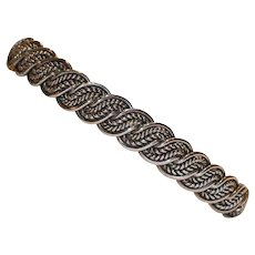 Sterling Braided Design Cuff Bracelet