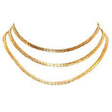 Monet Triple Strand Choker Necklace
