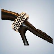 Boho Style Coated Wire Wrapped Cuff Bracelet