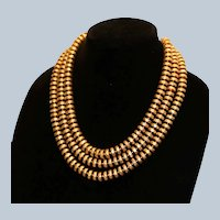 Joan Rivers Triple Strand Disk Necklace