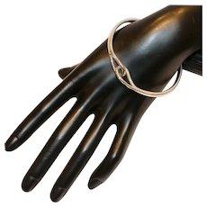 Sterling Loop Closure Bangle Bracelet 24 Grams