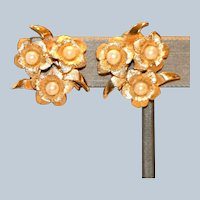 Boucher Imitation Pearl Clip Earrings