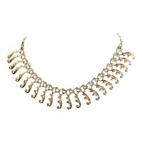 Sarah Coventry Fringe Drop Choker Necklace