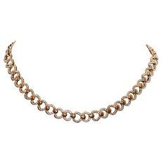 Monet Polished & Textured Choker Necklace