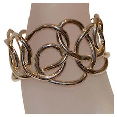 Angela Cummings Sterling Serendipity Cuff Bracelet 7.5 inches