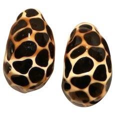 Kenneth Jay Lane Giraffe Enamel Clip Earrings