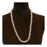 Monet Bold Chain Link Necklace 28 inches