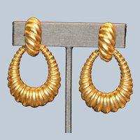Bold DoorKnocker Clip Earrings 2 inches