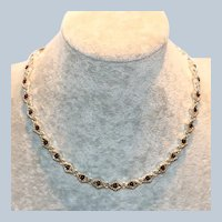 Napier Red Bead Link Choker Necklace