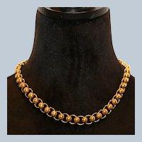 Trifari Bead Circle Link Necklace