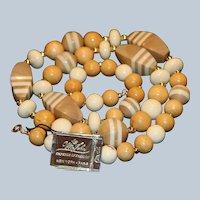 Mr. John Tan & Cream Necklace 30 inches