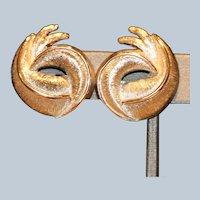 Monet Brushed & High Polish Clip Earrings