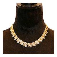 Coro Triangle Shapes Choker Necklace