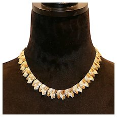 Coro Triangle Shapes Choker Necklace