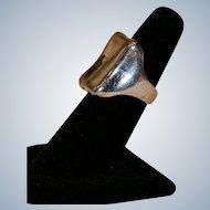 Robert Lee Morris Sterling Silver .925 Tablet Ring Size 6