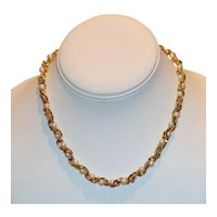 Caged Imitation Pearl Choker Necklace 16 inch