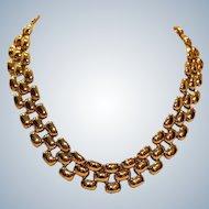 Erwin Pearl Goldtone Link Choker Necklace