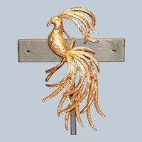 Avon Exotic Bird Pin Brooch 3 inches