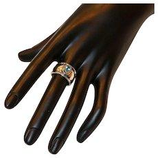 James Avery Sterling 18K Gold Blue Topaz Ring