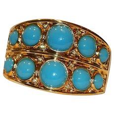 Kenneth Jay Lane Cuff Bracelet 7 3/8 inches