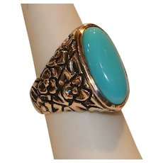Sterling & Turquoise Ring from Italy size 6