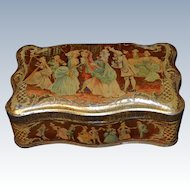 French  biscuit tin box 1890/1900