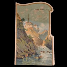 Rare 1900 bon marché pop-up trade card