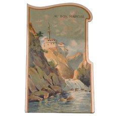 Rare 1900 bon marché pop-up trade card
