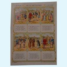 Rare 1900 bon marché  trade card