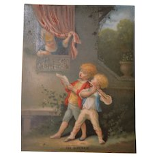 Charming victorian period child lithograph