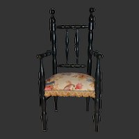 Gorgeous French ebonized armchair for your doll
