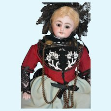 "11"" Antique German Doll cabinet size SIMON & HALBIG mold 1009"