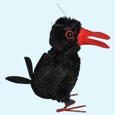 German vintage Steiff Raven, named Hucky