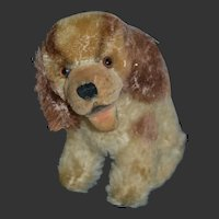 Darling little vintage steiff mohair and velvet dog