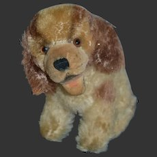 Darling little vintage steiff mohair and velvet dog