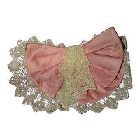 Lace and silk 1880/1900 jabot