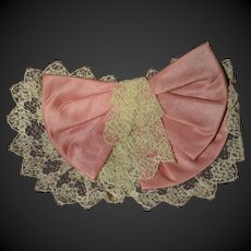 Lace and silk 1880/1900 jabot