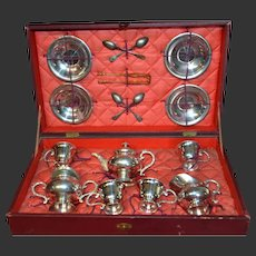 1870/1875 CBG metal tea set in original présentation box