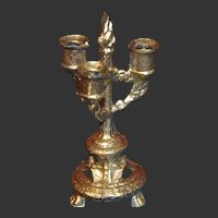 French bright gilt metal candelabra for your doll