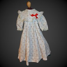 French antique cotton dress for your doll circa 1890/1900