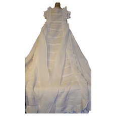 1880 French gorgeous christening gown or baptismal robe